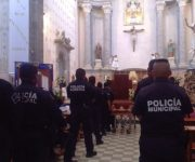 Dan último adiós y pase de lista a policía fallecido en Tequisquiapan