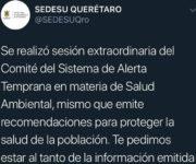 ALERTAN sobre contingencia ambiental en Querétaro y sus municipios