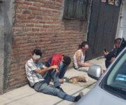Detiene policía a cuatro sujetos en SJR,  traían armas y drogas