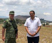 Presenta Memo Vega al 7o regimiento predio para base regional de la Guardia Nacional
