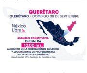 """VIDEO: Viene Calderón y su """"México Libre"""" a Querétaro el domingo, habrá Asamblea"""