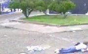 -Video- Disfrazado de Indigente trata de asaltar a mujer en el Centro de San Juan del Río