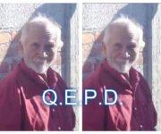 Identifican cadáver hallado en Centro de SJR, era octagenario desaparecido de El Coto