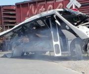 Chofer del camión en trenazo de San Juan del Río, culpable de la tragedia