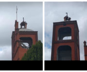 Destroza rayo cúpula de iglesia en Cuadrilla de Enmedio, SJR