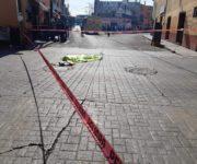 Atropella y mata taxivan a mujer en centro histórico de San Juan del Río