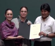 Sheinbaum nombra a Evo Morales Huésped Distinguido de CDMX