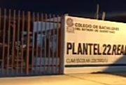 Dos jóvenes lesionados por flamazo en COBAQ 22 de Querétaro