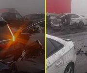 Brutal accidente en la carretera Monterrey-Saltillo deja decenas de lesionados