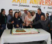 Festeja Marina Ponce 23 Aniversario a Sindicalizados al Servicio de Landa de Matamoros