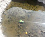 Aguas negras contaminan tercera sección de El Pedregoso, SJR