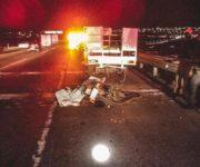En fatal accidente muere motociclista al impactarse contra camioneta en la México-Querétaro