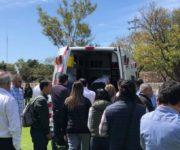 Karina Castro de Domínguez entre lesionados al colapsar gradas en Querétaro
