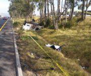 Trágico accidente en la 57, mueren hombre y mujer