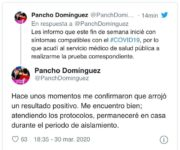 Pancho Domínguez, Gobernador de Querétaro da positivo a coronavirus
