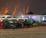 Roban Charger y lo chocan contra lote de autos en Centro de SJR