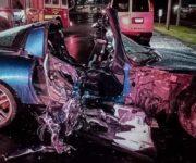 Muere joven mujer en brutal impacto de auto de lujo en Querétaro