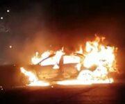 A balazos ultiman a hombre e incendian su auto, en Cazadero SJR