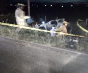 Son 2 autos involucrados en accidente en rúa Tequis - Ezequiel; hay 2 muertos