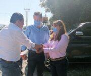 Acompaña Francis Escamilla a Mauricio Kuri entregando su Segundo Informe en Arroyo Seco